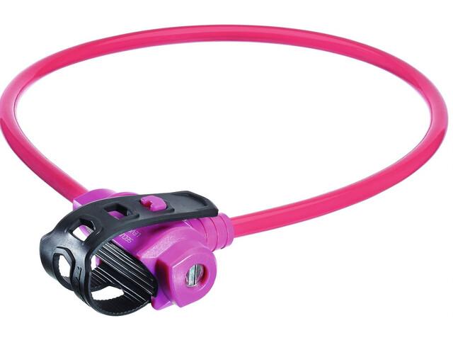 Trelock KS 211 Fixxgo Kids Lapset Pyörälukko , vaaleanpunainen